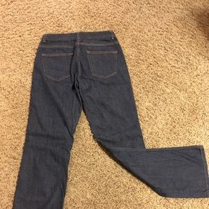 H &M mid rise dark boot cut jeans size 8